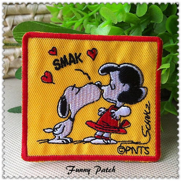 Snoopy Kis Lucy Iron on Patch 376-H