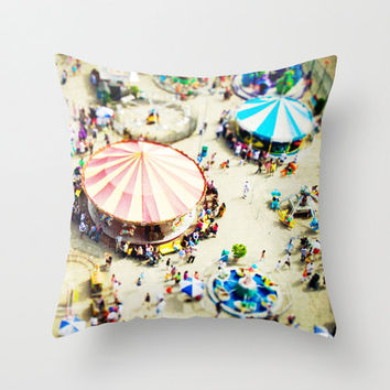 Throw Pillows - Coney Island Nursery Decor, Throw Pillows Coney Island Boardwalk - Beach Theme, Nursery Decor
