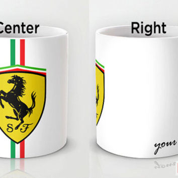 Personalized mug cup designed PinkMugNY - I love ferrari with your name