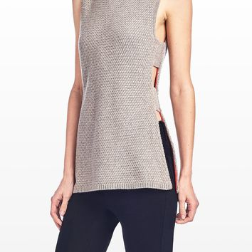 Cashmere Sweater With Cut Out Sides