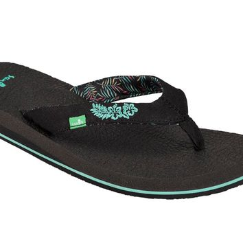Sanuk Yoga Paradise 2 Black Paradise Palms Sandals