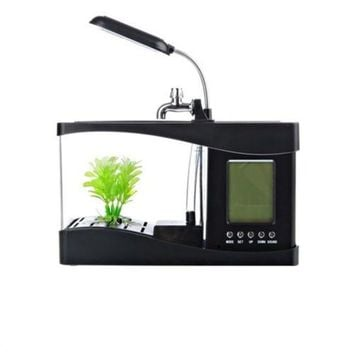 Creative multi-function USB mini aquarium fish tank LED lamp Pen small goldfish
