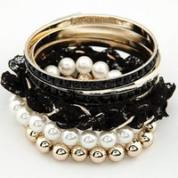 FREE SHIPPING Lace Pearl Multilayer Bracelet 08092114 from GowithGalaxy