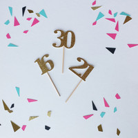 30 cupcake toppers (12 per order), birthday cupcake toppers, 21, 30,16,40,50,celebrate, happy birthday