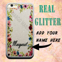 Real Glitter Personalised Name Bling Luxury Sparkle Flower Case Cover for iPhone | eBay