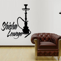 Wall Decal Sticker Hookah Hooka Shisha Lounge Relax Inscription Bar Hause M1574