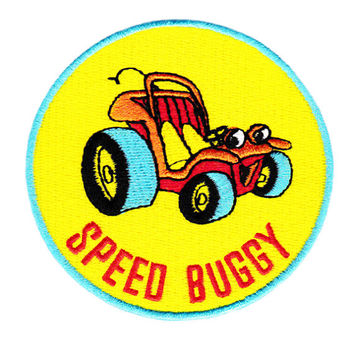 Vintage 70's 80's Style Speed Buggy Shirt Patch Badge for Cap Hat Beach Dune 8cm