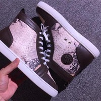 Cl Christian Louboutin Python Style #2275 Sneakers Fashion Shoes - Best Deal Online