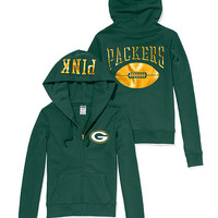 Green Bay Packers Zip Hoodie - PINK - Victoria's Secret