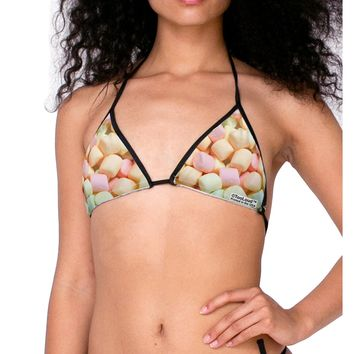 Marshmallows All Over Swimsuit Bikini Top All Over Print
