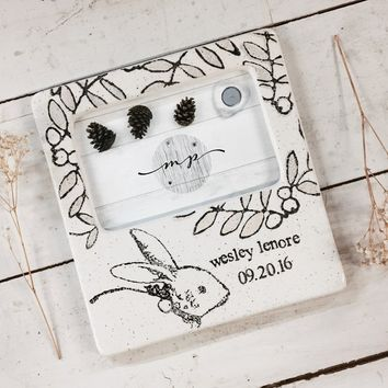Personalized Baby Bunny Photo Frame