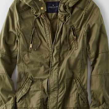 AEO Women's Light Swing Jacket (Olive)