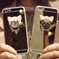 Cute Cat Hold iPhone 5s 6 6s Plus Case Gift-96