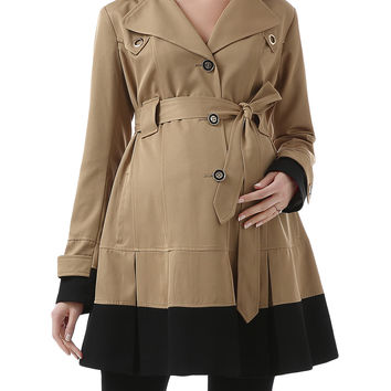 Brynn Colorblock Trench Coat
