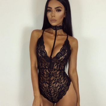 Women 's new sexy body appeal Lace romper
