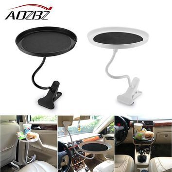 AOZBZ Rotating Car Mount Tray Tablet Clamp Holder Organizer for Coffee Tea Drink Food Universal Useful Travel Drink 360 Degrees