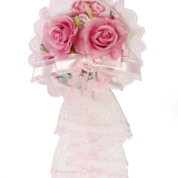 Dramatic Rose Canotier - Pink [142PKD10-12282-pk] - $40.00 : Angelic Pretty USA