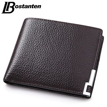 New Vintage Leather Wallet Men Money Purse Small Wallet Famous Cow Genuine Leather Wallet For Men Designer Purse