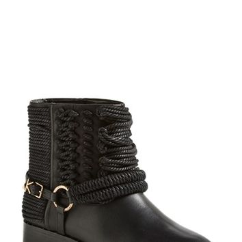Women's Ivy Kirzhner 'Bond' Rope Detail Round Toe Engineer Bootie