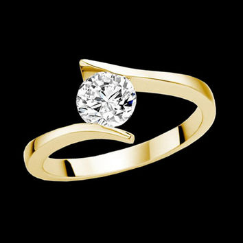 1 carat G SI1 Diamond solitaire engagement diamond ring