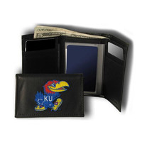 Kansas Jayhawks NCAA Embroidered Trifold Wallet