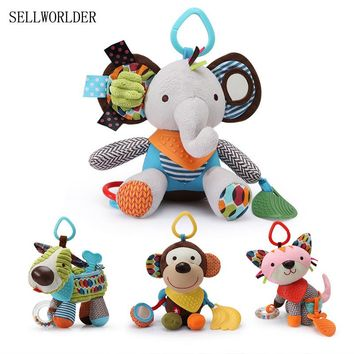 14 Styles 2017 Baby 0-12 Month Toys Cute Animal Toddler Rattles & Mobiles Infant Plush Learning Products Kids Gift