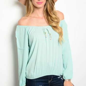 Sea Breeze Off the Shoulder Blouse