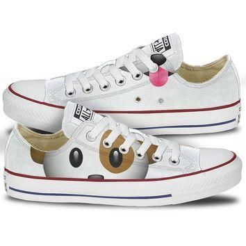 Converse Dog Emoji Low Top Chucks