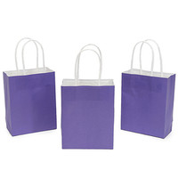 Small Candy Bags with Handles - Purple: 24-Piece Pack