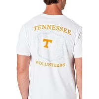 University of Tennessee Flag Tee Shirt in White by Southern Tide
