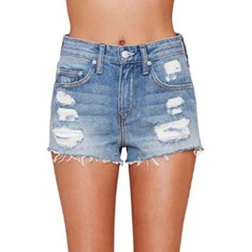 Women's Jack Cut Off Short Vintage Levi's Frayed Shorts Denim High Rise