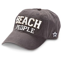 Beach People - Unisex Adjustable Embroidered Baseball Cap - Dark Gray