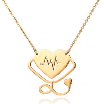 Special Stethoscope I LOVE YOU Choker Necklace For Women