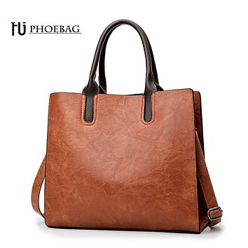 HJPHOEBAG Women Leather Handbags High Quality Casual Female pu Bags Trunk Tote Fashion Shoulder Bag Ladies Large Bolsos HJ-800