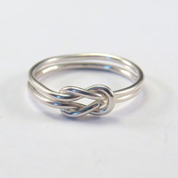 Double Knot, Infinity, Sail Knot Sterling Silver 925 Ring. Womens Mens Pick Your Size!