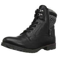 Rock & Candy Womens Tellina Faux Leather Motorcycle Ankle Boots