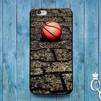 iPhone 4 4s 5 5s 5c 6 6s plus + iPod Touch 5th Generation Cool Custom Sporty Sport Basketball Court Orange Ball Cover Cute Fun Athlete Case