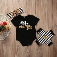 Cotton Newborn Baby Toddler Girls clothes Jumpsuit Bodysuit baby Clothes Outfits Set