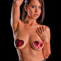 Individual Hand Placed Sequin Burlesque Pasties