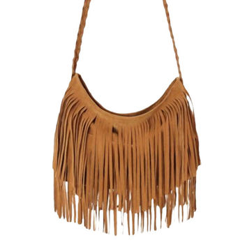 New FashionNew Arrival Woman Tassel Fringe Handbag Purse Hobo Tote Shoulder Bag Ladies Handbags Purse Bolsas Feminina