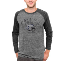 Junk Food Indianapolis Colts Raglan Tri-Blend Long Sleeve T-Shirt - Charcoal/Ash