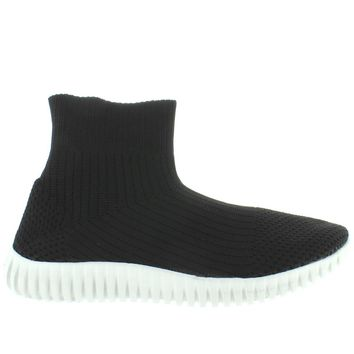Dirty Laundry Helix - Black Stretch Knit Sock Sneaker
