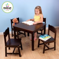 Kidkraft Espresso Farmhouse Table And Four Chairs