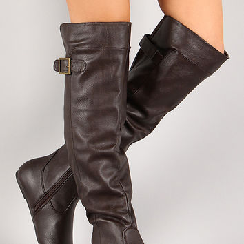 Bamboo Rebeca-60 Loose Fit Knee High Boot