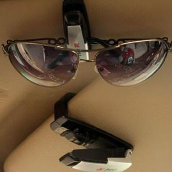 Hot Sale auto fastener clip Auto Accessories ABS Car Vehicle Sun Visor Sunglasses Eyeglasses Glasses Ticket Holder Clip