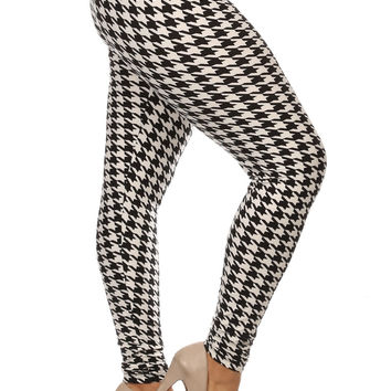 Always Black and White Checkered Printed Leggings