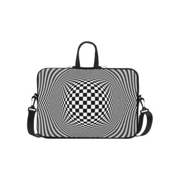 Personalized Laptop Shoulder Bag Optical Illusion Checkers Macbook Air 15.6 Inch