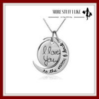 """ FREE SHIPPING "" I Love You to the Moon and Back Necklace "" FREE SHIPPING """