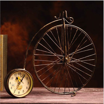 Weathered Iron Bicyclex Home Decoration Creative Clock [6282700934]