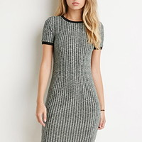 Ribbed Knit Marled Dress